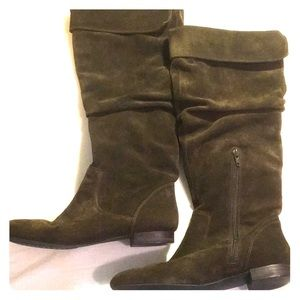 Banana Republic olive suede slouchy boot